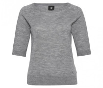Halbarm-Pullover KALANI für Damen - Mid Gray Melange