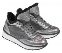 PLATEAU-SNEAKERS SAAS FEE für Damen - Silver Gray
