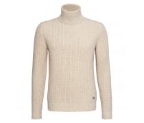 Schurwoll-Pullover QINN für Herren - Cream