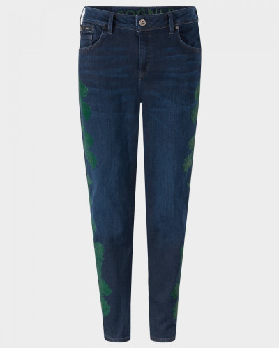 Boyfriend Jeans Florinda Cropped für Damen - Dark Denim Blue