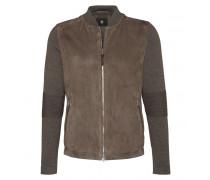 Ziegenvelours-Woll Jacke ALEC für Herren - Walnut