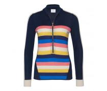 Schurwoll-Strickjacke NADEA für Damen - Navy/Multicolor
