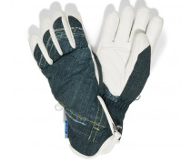 Ski-Handschuhe Finja für Damen - Blue Denim / Off-white