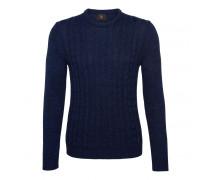 Strick-Pullover HOWARD für Herren - Navy Mélange