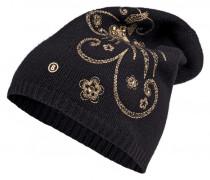 Strickmütze PARIS für Damen - Black / Champagne