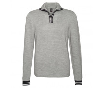 Zip-Troyer TOBY für Herren - Light Gray Mele / Multicolor