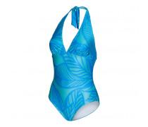 Neckholder-Badeanzug LAYA für Damen - Horizon / Aqua