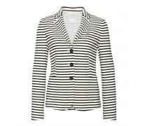Jersey-Blazer LEXI für Damen - Off-white / Black