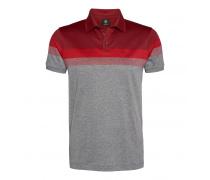 Poloshirt TIMO für Herren - Gray Melange / Red