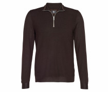 Zip-Troyer RYEN für Herren - Chocolate Brown