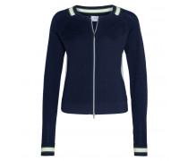 Schurwoll-Strickjacke SAMIRA für Damen - Navy / Multicolor