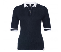 Halbarm-Pullover KIANA für Damen - Navy / White