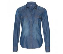 Jeansbluse LISA für Damen - Blue Denim