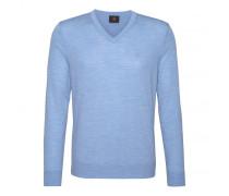 Schurwoll-Pullover BENE für Herren - Sky Mélange