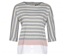 Shirt KIMY für Damen - Light Gray Melange / Multicolor