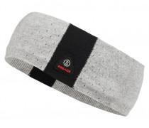 Strick-Stirnband PIENA für Damen - Light Gray Mele / Black