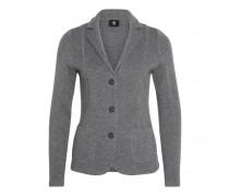 Schurwoll-Strick-Blazer ENA für Damen - Gray