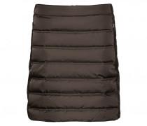 Daunenrock ELEA für Damen - Dark Khaki Brown / Black