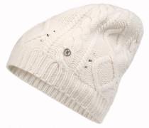 Kaschmir-Strickmütze NOKI für Damen - Off-white