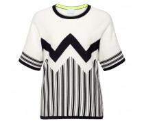 Stricktop PRISCA für Damen - Off-white / Black