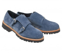 DOUBLE MONK HALBSCHUHE NEW MERIBEL für Damen - Jeans Blue