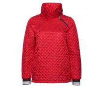 Ultra-Lightweight Daunenjacke NOELLA für Damen - Signal Red / Multicolor