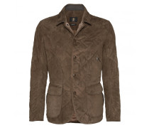 Ziegenvelours-Steppjacke JOE für Herren - Walnut