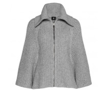 Strickcape GISELE für Damen - Gray Melange