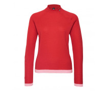 Pullover LILIA für Damen - Burned Red / Soft Pink