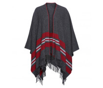 Poncho KAELA für Damen - Charcoal / Multicolor