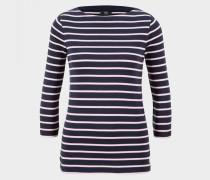 Longsleeve Dalia für Damen - Navy-Blau/Weiß Longsleeve