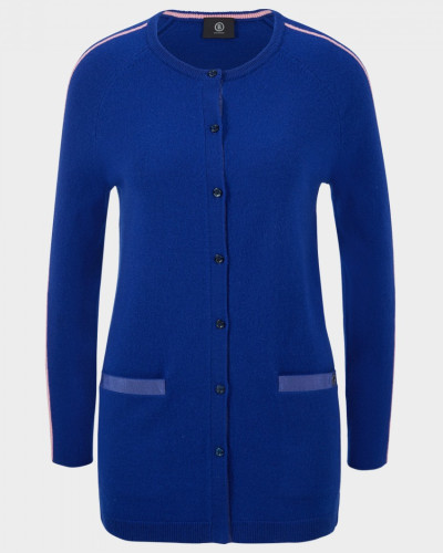 Long-Cardigan Ilena für Damen - Atlantik-Blau