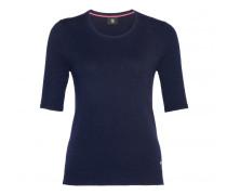 Kaschmir Halbarm-Pullover INA für Damen - Navy
