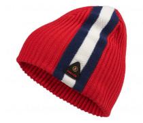 Strickmütze NORMAN für Herren - Hot Red / Multicolor