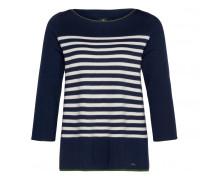 Schurwoll-Pullover JANIKA für Damen - Navy / Multicolor