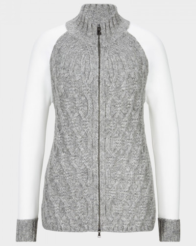 Strickjacke Alara für Damen - Grau/Off-White Strickjacke
