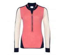 Schurwoll-Strickjacke NADEA für Damen - Hibiskus/Multicolor