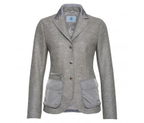 Mixed-Combo Blazer EARTHA für Damen - Mid Gray Melange