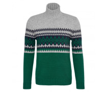 Pullover IVEN für Herren - Racing Green / Multicolor