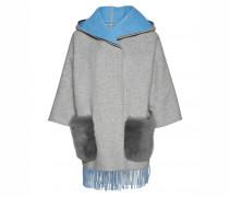 Doubleface-Jacke BELLA für Damen - Silver / Sky Blue