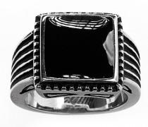 Ring Onyx Steel 1255 silber