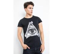 Print Shirt Triangle Eye MSN schwarz