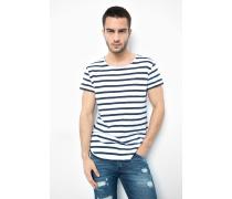 T-Shirt Leno stripes blau