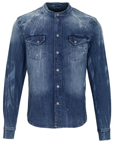 Jeanshemd Freddy 6866 stone wash blau