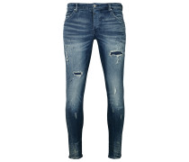 Destroyed Jeans Billy the kid 9869 repaired blau