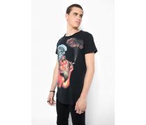 Print T-Shirt Smoking Man MSN schwarz