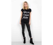 Print Shirt Follow your dreams WSN schwarz