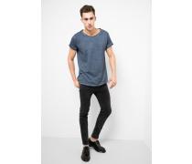 T-Shirt Milo slub blau