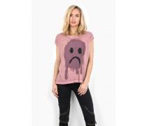 Print Shirt Dropout Smiley WSN pink