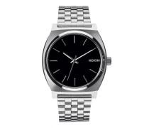 Uhr Time Teller silber schwarz